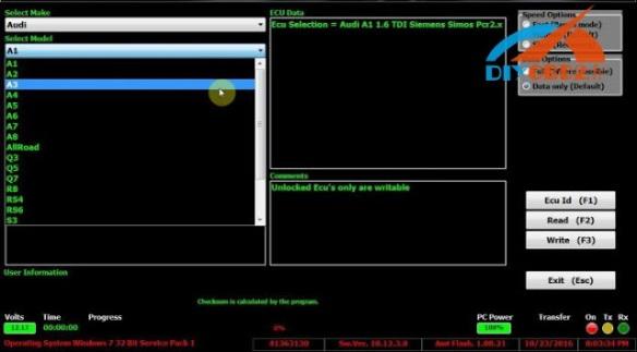 MPPS V18 software read Audi A3 Bosch ME7 1 K-Line successfully