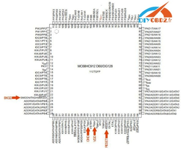 UPA USB Programmer read Peugeot 307 BSI MC68HC912