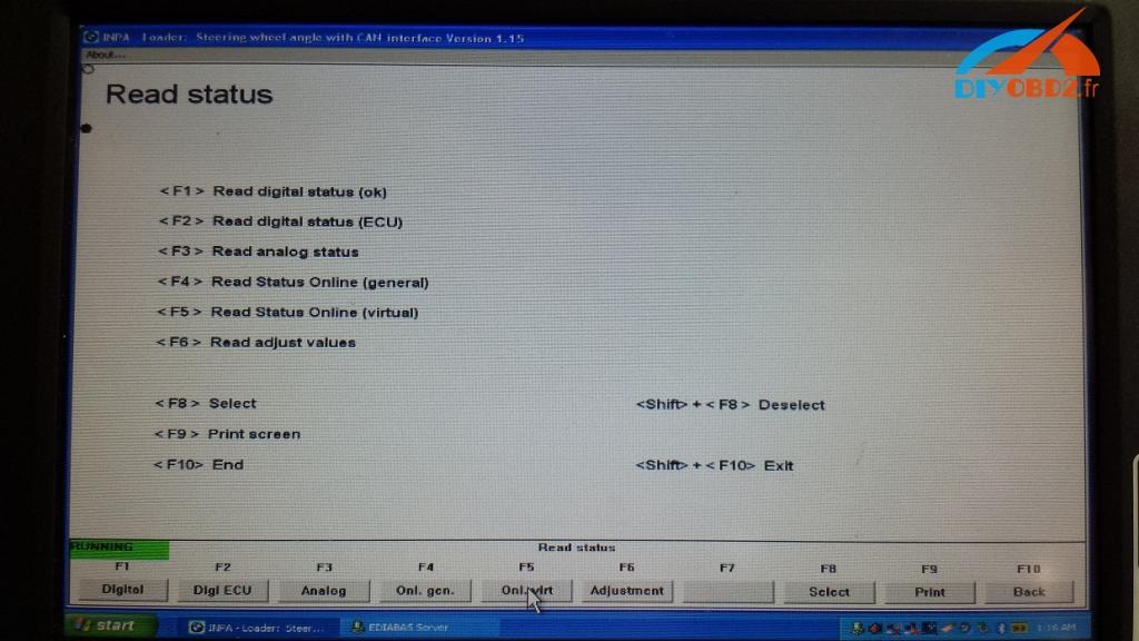 B Inpa Kdcan Cable Reset Steering Angle Sensor